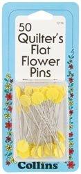 Dritz Quilter's Flat Flower Pins 50/Pkg C115; 2 Items/Order