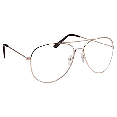 Real Gold Eyeglass Frames : Amazon.com: grinderPUNCH New Non-Prescription Premium ...