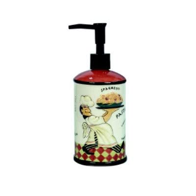 fat italian french chef soap pump lotion