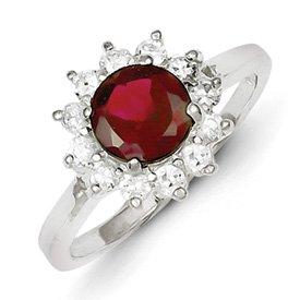 Genuine IceCarats Designer Jewelry Gift Sterling Silver Rhodolite Garnet Ring Size 8.00
