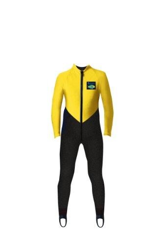 Aeroskin Kids  Full Body Suit (Black/Yellow, Kids-2)