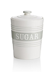 Striped Sugar Storage Jar