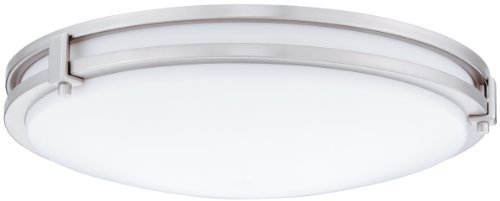 Lithonia Lighting Fmsatl 13 14830 Bn M4 13-Inch 3000K Led Saturn Flush Mount, Antique Brushed Nickel