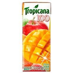 キリン トロピカーナ 100%ジュース マンゴーブレンド 紙パック250ml×24本【×2ケース:合計48本入】