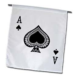 3dRose fl_76552_1 Ace of Spades Playing Card