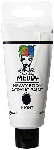 Ranger Dina Wakley Media Heavy Body Acrylic Paint, 2-Ounce, Night (Dina Wakley Paint compare prices)