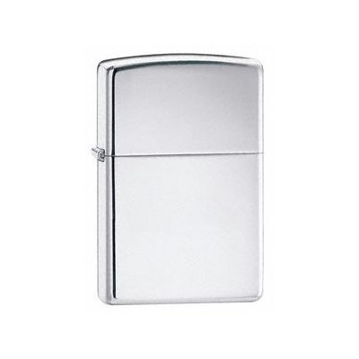 Zippo Cigarette Lighter, High Polished Chrome, Personalised FREE