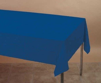 """Navy Blue 2-Ply Paper/Poly Tablecloth 54"""" x 108"""" 6 Per Pack"""