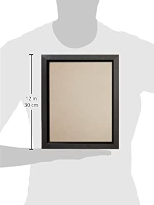 Craig Frames 7171610BK Picture Frame, Smooth Wrap Finish, .825-Inch Wide, Black