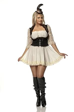 Mystery House Costumes Plus-Size Steampunk Lady, Brown/Ivory, 1X