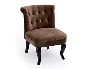 Fauteuil crapaud marron sissy en velours cuisine maison - Amazon fauteuil crapaud ...