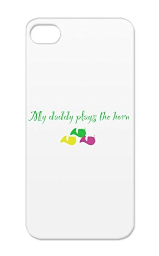 Music Baby Classical Orchestra Symphony Music Daddy Brass Band Geek Classic Horn French Dad Play Instrument Nerd Green Plays Horn Protective Hard Case For Iphone 5 front-33552