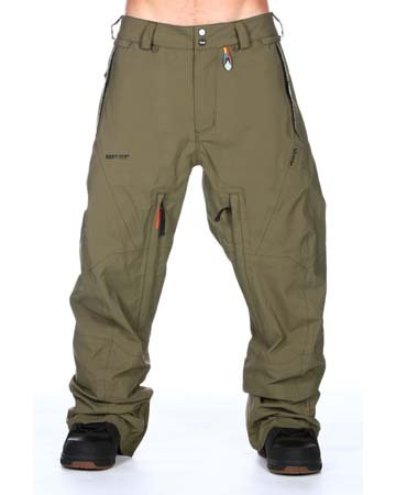 Volcom Baldface Guide Gore-tex Pant - Color:Military - Talla:M - 2013