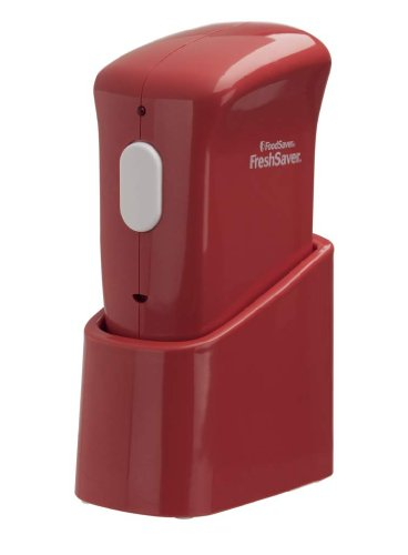 New FoodSaver FSFRSH0060-035 FreshSaver Handheld Vacuum Sealer with Starter Kit, Red