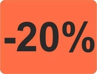 HKR-welt tapeten étiquettes 20% 39 x 30 mm rouge clair 1000 étiquettes (publicité)