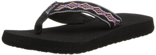 Reef Women'S Sandy Sandal,Black/Blue/Pink,9 M Us
