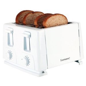 Continental Electric Ce23451 4-Slice Toaster, White