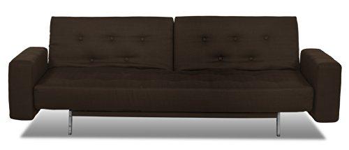 Serta Jetson Convertible Sofa, Dark Brown front-1074827