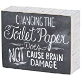 Primitives by Kathy Chalk Sign, 5-Inch by 4-Inch, Toilet Paper