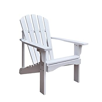 Shine Company Rockport Adirondack Chair, White