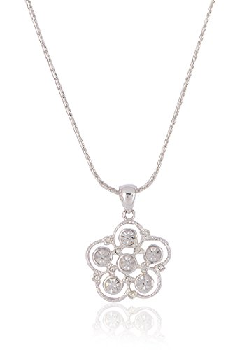 Estelle Estelle Silver Plated Pendant Set With Crystals(421) (Transperant)