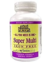 Super Multi Iron Free 90 Tablets by Natural Factors
