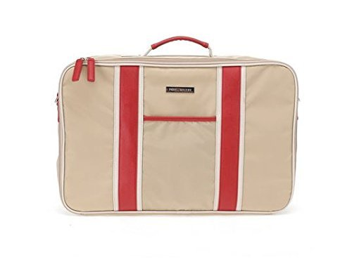 perry-mackin-water-resistant-nylon-weekender-bag-beige-nylon-with-faux-leather-red-trim-by-perry-mac