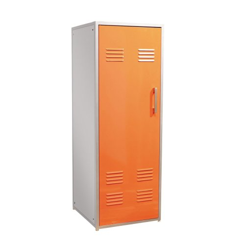 Powell Furniture Orange Teen Trends Home Storage Kids Locker Coat Rack