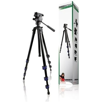 Konig Magnesium Aluminum Alloy Lightweight Tripod with Damping to 1.6m - Black