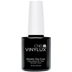 Creative Nail Creative Nail Design Vinylux Nail Lacquer, Weekly Top Coat, 0.5 Fluid Ounce
