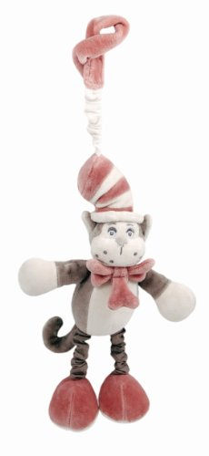 Miyim Plush Stroller Toy, Grey, Dr. Seuss Cat In The Hat front-181595