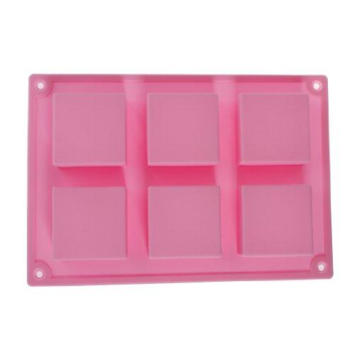 Molde jab n rectangular 6 cuadrados gelatina hielo tarta - Moldes silicona amazon ...