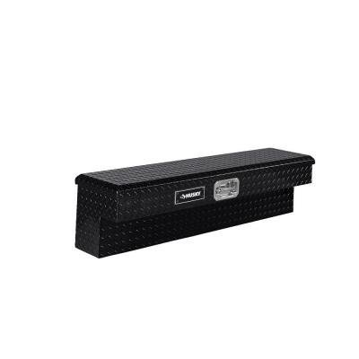 48 in. Aluminum Side Mount Truck Tool Box, Black