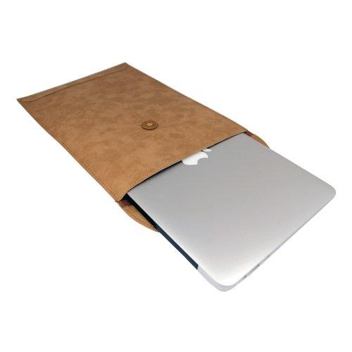 MacBook Air 11.6インチ レザーポーチ 封筒タイプケース(キャメル)