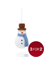 Crimbleberry Wood Norman the Snowman Christmas Tree Decoration