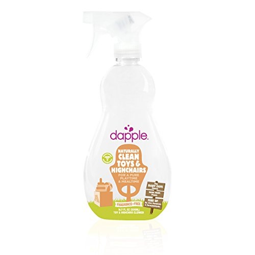 Dapple Natural Toy and Highchair Cleaner Fragrance-Free Spray, 16.9 Fluid Ounce