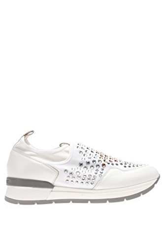 37856 BIANCO.Sneaker slip on strass.Bianco.40