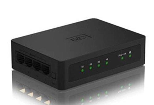 WD Livewire Powerline AV Network Kit (4 Ports, Twin Pack)