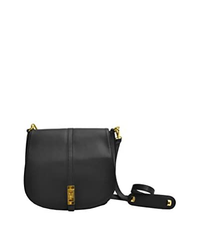 Adrienne Vittadini Women's Modern Edge Messenger Cross-Body, Black