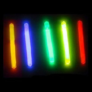 "100 Lumistick 2"" Glow Sticks - Assorted 5 Color Mix"