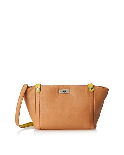 Nila Anthony Women's Turnlock Cross-Body, Tan