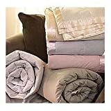 Pacific Coast® Satin Trim Down Blanket Queen Cream 90x96 Inch 18oz
