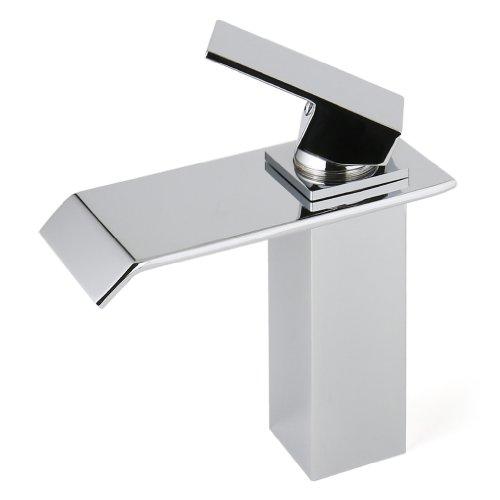 kaufen Auralum Einhebel Wasserhahn Armatur Waschtischarmatur Wasserfall Einhandmischer f. Küche (Size A)