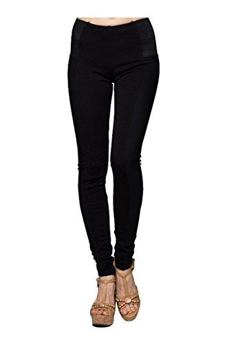 2LUV Women's Mid Rise Skinny Ponte Dress Pants