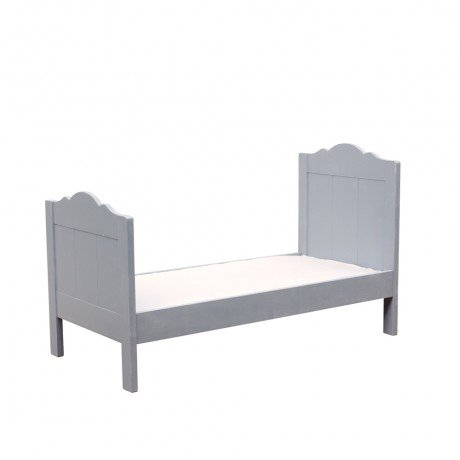 Alfred & Compagnie - Lit pin massif avec sommier 70x150 gris vintage Alice