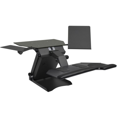 "Healthpostures Taskmate Desktop Electric Standing Desk - 50 Lb Load Capacity - 20"" Height X 45"" Width X 43"" Depth - Steel ""Product Category: Accessories/Stands & Cabinets"""
