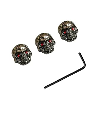 Surfing Electric Guitar Skull Volume Knobs Dark chrome( Pack of 3) by Surfing