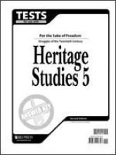 Answer key for Tests for Use with BJU Heritage Studies 5