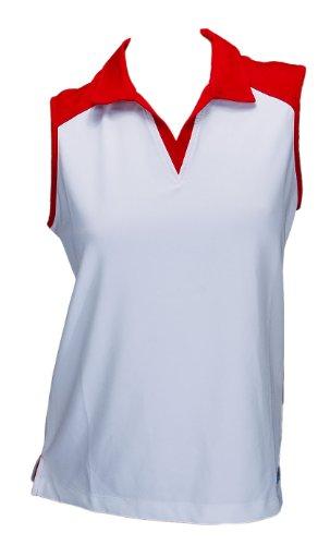 Asics Tennis Fitness Maglietta da Sport Wade Sleeveless Polo Donna 0001 Art. 576117 Taglia S