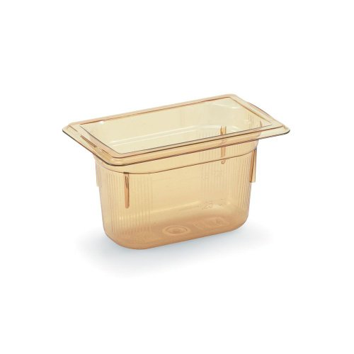 Vollrath Super Pan 3 Amber 1/9 Size High Temp. .6 Qt. Pan